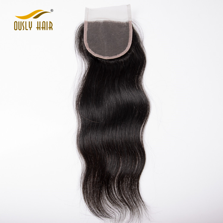 Human Hair Lace Closure Brazilian Straight Hair Closure 4X4 Free Part Closure 8-20 inch Remy Hair