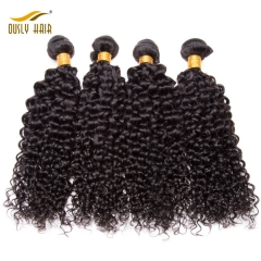 【3 PCS FREE SHIPPING】Ously Hair High Quality Brazilian  Kinky Curly Virgin Hair Extensions Brazilian Human Hair bundles
