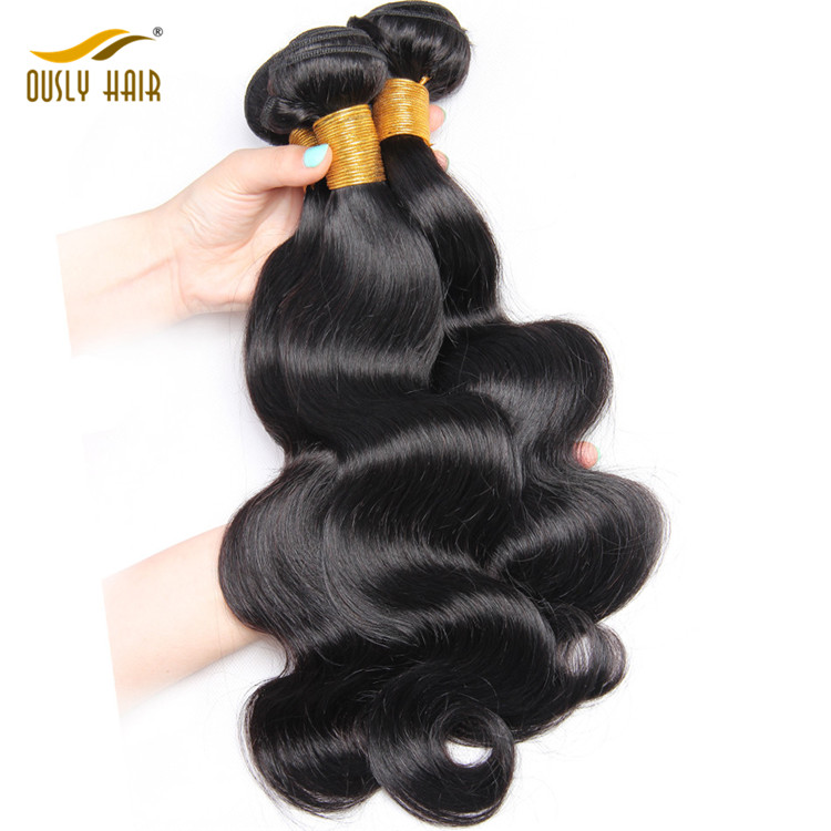 【3 PCS FREE SHIPPING】Ously Hair Body Wave Bundles Raw Human Hair Weave  Bundle 1 Pc Remy Hair Extensions Natural Hair Can Be Dyed