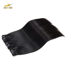 "【3 PCS FREE SHIPPING】Ously Hair Peruvian Straight Hair 100% Virgin Human Hair Double Weft 8""-26"" Nature Color 1 Piece Weaving"