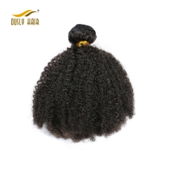 【3 PCS FREE SHIPPING】Ously hair  Kinky Curly Human Hair 1 Piece Hair Weave Bundles 8-26 inch Natural Color Remy Hair bundle