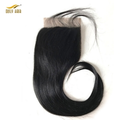 【3 PCS FREE SHIPPING】Ously Hair Brazilian Straight 5X5 Lace Closure With Baby Hair 8-20inch 100% Remy Human Hair