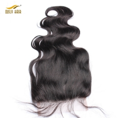 【3 PCS FREE SHIPPING】Ously Hair Body Wave 5x5 Lace Closure Bleached Knots Human Hair Closure Brazilian Hair Pre Plucked With Baby Hair Remy
