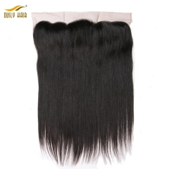 【2 PCS FREE SHIPPING】Ously Hair Lace Frontal Closure With Baby Hair 100% Brazilian Human Remy Hair 13x4 Free Part Lace Front
