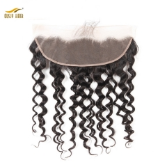 【2 PCS FREE SHIPPING】Ously Hair 13x4 Ear to Ear Malaysian Water Wave Lace Frontal Closure Pre Plucked With Baby Hair  Remy Hair Frontal