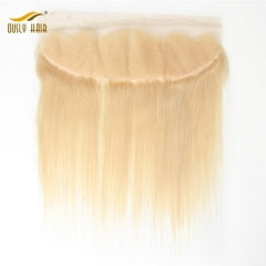 【2 PCS FREE SHIPPING】Ously Hair 613 Blonde Lace Frontal Closure Brazilian Straight 13x4 Swiss Lace Pre-pluck with Baby Hair 100% Human Remy Hair