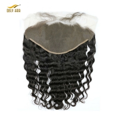 【2 PCS FREE SHIPPING】Ously Hair Lace Frontal Closure 13x6 Peruvian Loose Wave Human Hair with Baby Hair Free Part Bleached Knots Remy Hair Weft