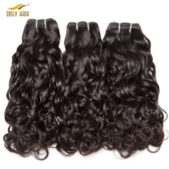 【3 PCS FREE SHIPPING】Ously Hair 100 Human Hair Bundles Water Wave Brazilian Hair Weave Bundles Remy Hair Extensions 1PC Can Buy 3 / 4 / 5 Bundles
