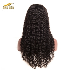 Ously HairLace Front Human Hair Wigs For Black Women Natural Black Deep Wave Brazilian Hair Wigs Swiss Lace Wig Free Shipping