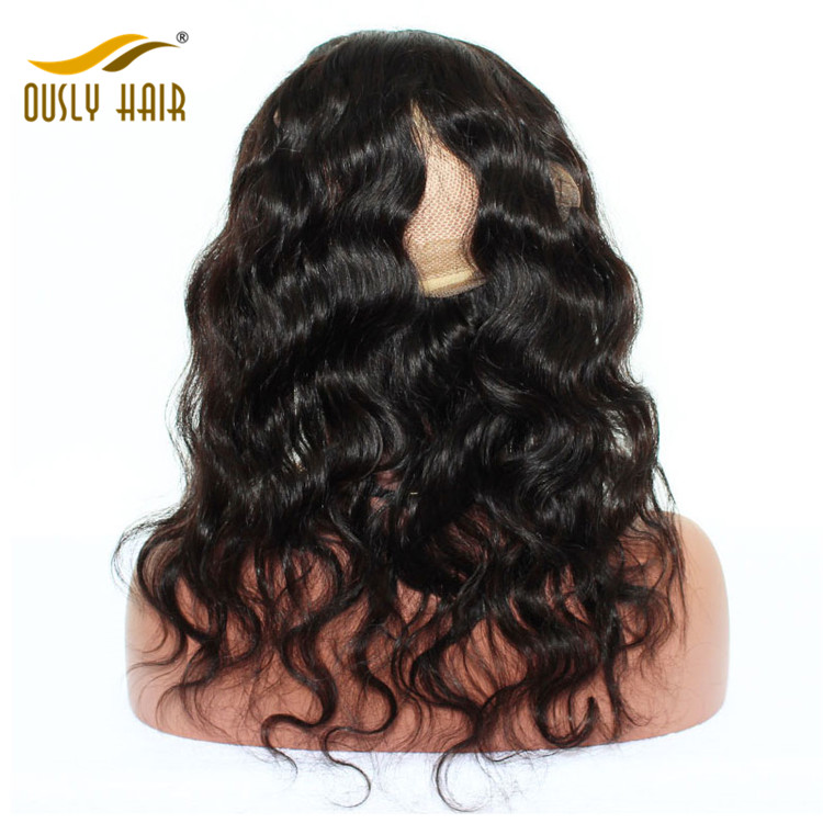 【2 PCS FREE SHIPPING】Ously Hair Brazilian Virgin Human Hair Body Wave 360 Lace Frontal Closure Pre Plucked Hair Line Natural Color Bleached Knots