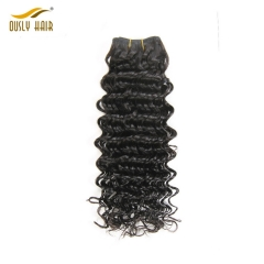 Ously Hair Silky And Charming Brazilian Deep Wave Bundles Human Remy Hair Density 130 Natural Color No Tangle No Shedding