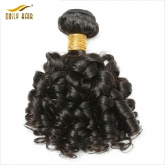 "Ously Hair Brazilian Bouncy Curly Hair Bundles 1 Piece Human Hair Weave 8""-26"" Can Be Dyed Can Buy 3/4Pcs"