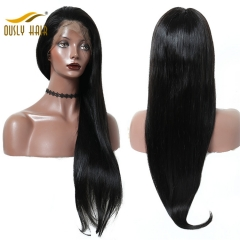 Ously Hair Brazilian Virgin Human Hair Silky Straight 360 Lace Frontal Wig Pre Plucked Hairline With Baby Hair Natural Color Lace Frontal Wigs