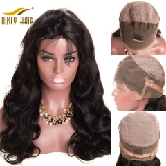Ously Hair  Brazilian Remy Human Hair Body Wave 360 Lace Frontal Wigs With Baby Hair Pre Plucked Hairline Lace Frontal Wigs