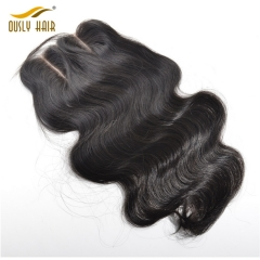 【3 PCS FREE SHIPPING】Ously Hair Peruvian Human Hair Weave Charming Body Wave 5*5 There Part Lace Closure Remy Human Hair Medium Brown Swiss Lace