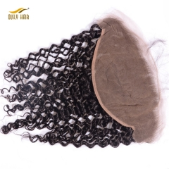 【2 PCS FREE SHIPPING】Ously Hair  Deep Curly Brazilian Virgin Hair 13x6 Lace Frontal Closure Swiss Lace Bleached Knot Pre Plucked Hair Line