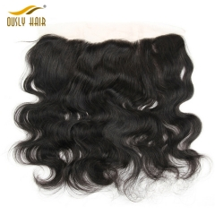 Ously Hair Brazilian Virgin Human Hair Body Wave 13*4 Free Part Lace Frontal Closure Pre Plucked With Baby Hair Bleached Knots Lace Frontal Closure