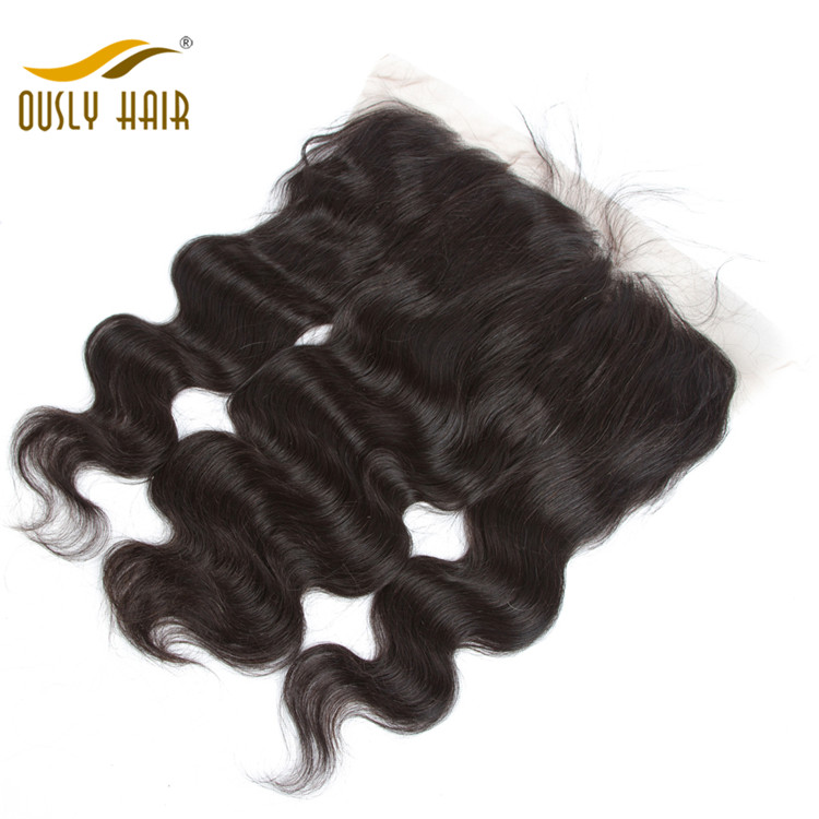 Ously Hair Peruvian Virgin Human Hair Charming Body Wave 13*6 Free Part Lace Frontal Closure Pre Plucked With Baby Hair Bleached Knots