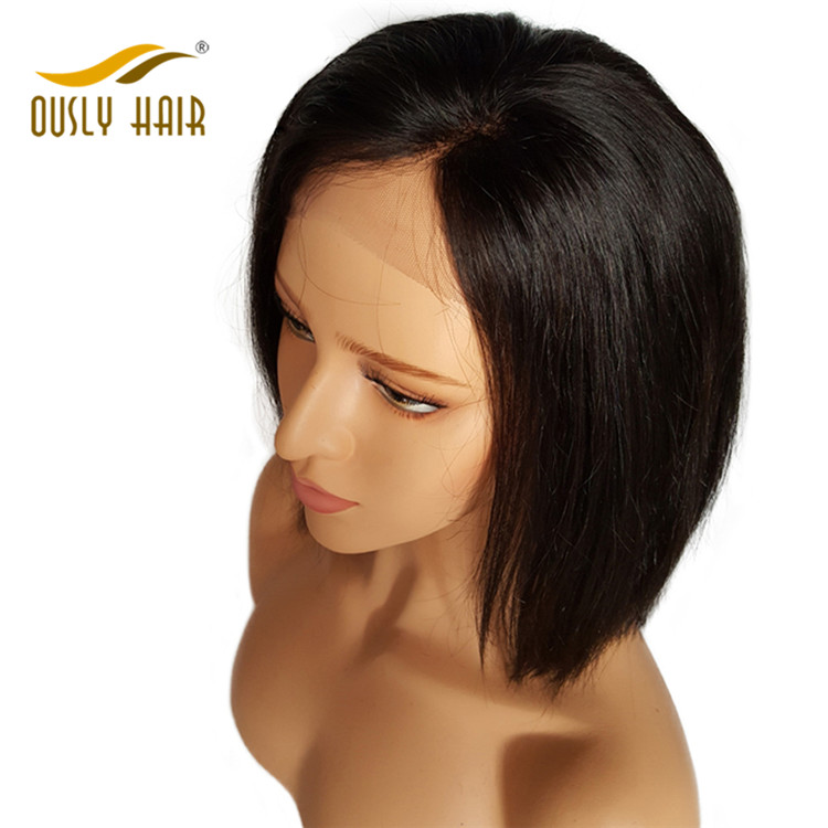 Brazilian Virgin Human Hair Wigs Straight Lace Front Wigs With Baby Hair Bleached Knots Pre Plucked Human Hair Wig Ously Hair