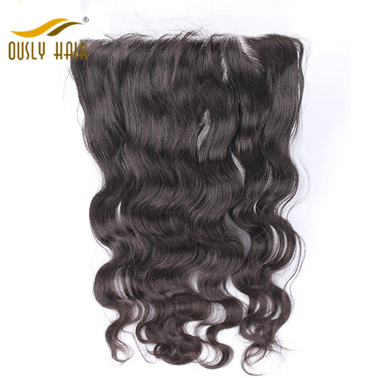 Ously Hair Brazilian Virgin Human Hair Charming Body Wave 13*6 Free Part Lace Frontal Closure With Baby Hair Bleached Knots Lace Frontal Closure
