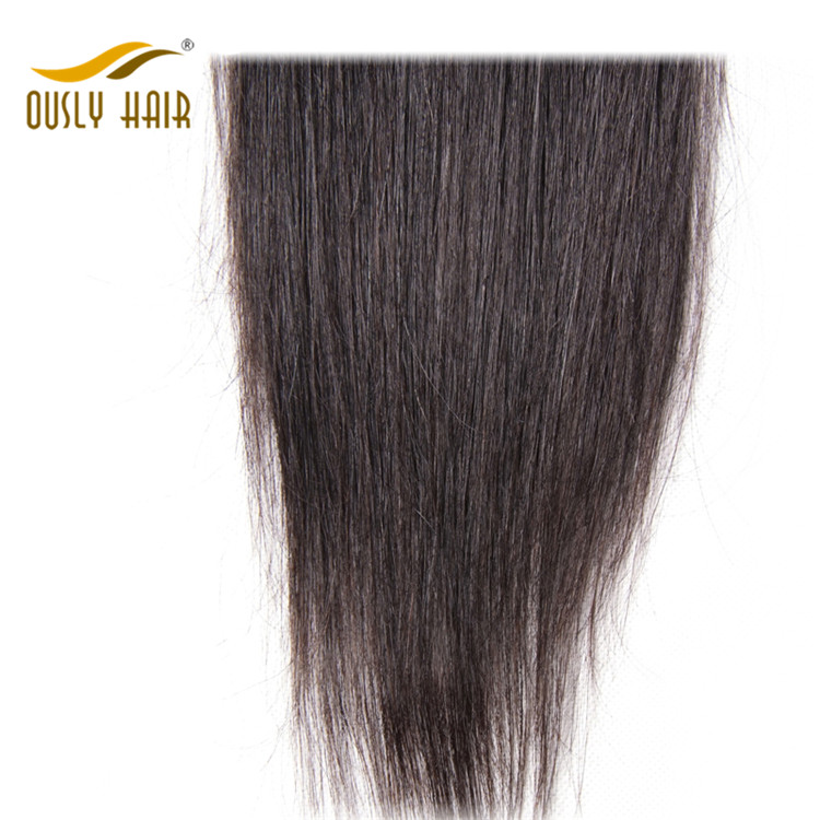 【3 PCS FREE SHIPPING】Ously Hair Indian Virgin Human Hair Straight Middle Part 4X4 Lace Closure Bleached Knots No Shedding For Black Women