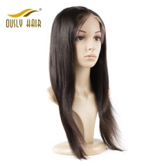 Ously Hair Brazilian Human Hair Wigs Pre Plucked Straight Full Lace Wigs With Baby Hair wigs 10-24 Inch